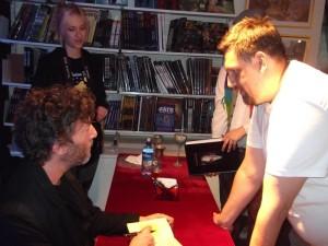 Neil Gaiman og ég.