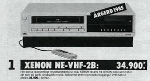 Orion Xenon VHS