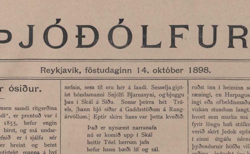 Skrípanöfn og vítaverðir ósiðir