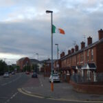 Það voru ótrúlega margir írskir fánar í Bogside
