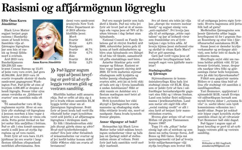 Samsæriskenningarugl og rangfærslur í Mogganum